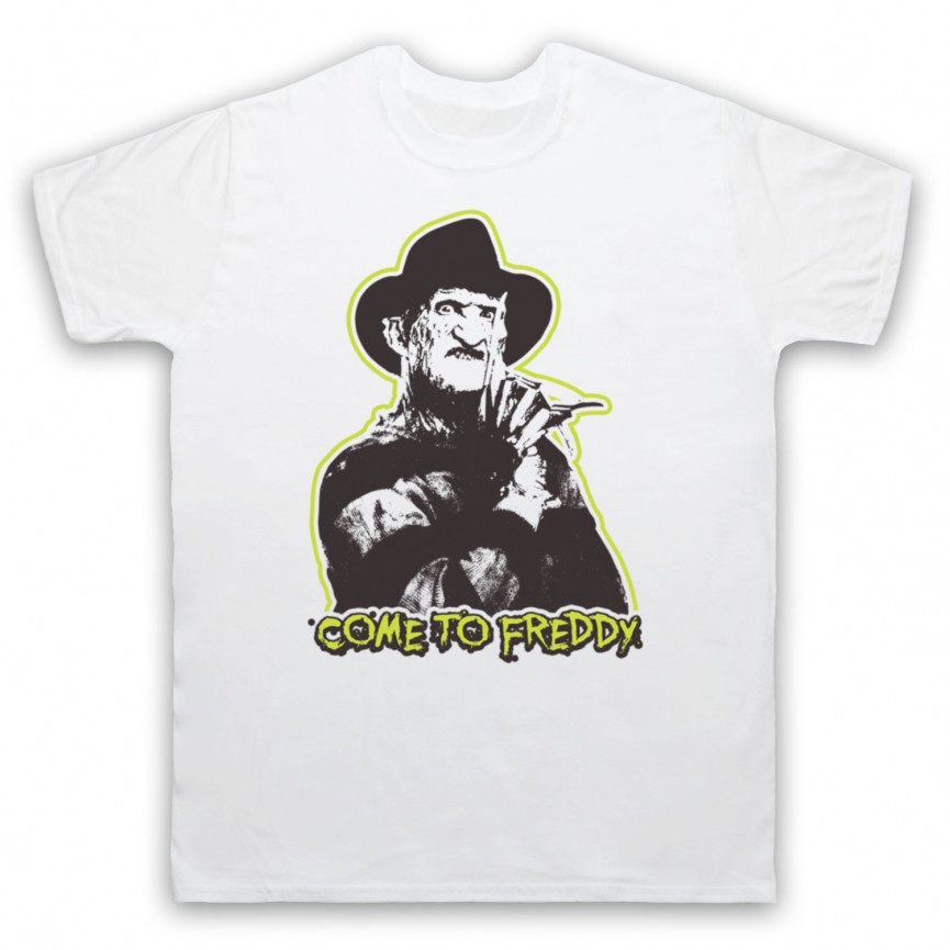 A Nightmare On Elm Street Come To Freddy Mens White T-Shirt