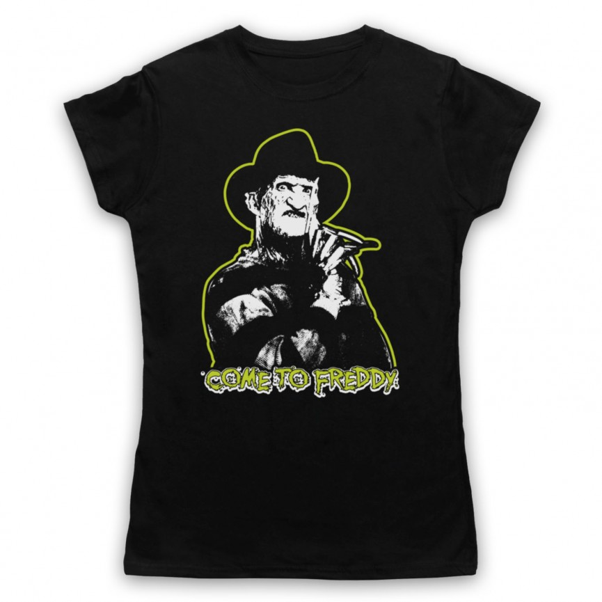 A Nightmare On Elm Street Come To Freddy Womens Black T-Shirt