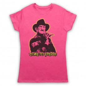 A Nightmare On Elm Street Come To Freddy Womens Pink T-Shirt