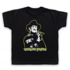 A Nightmare On Elm Street Come To Freddy Kids Black T-Shirt