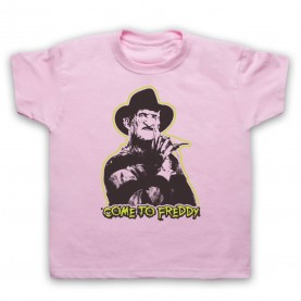 A Nightmare On Elm Street Come To Freddy Kids Light Pink T-Shirt