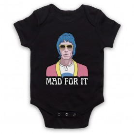 Oasis Liam Gallagher Mad For It Black Baby Grow