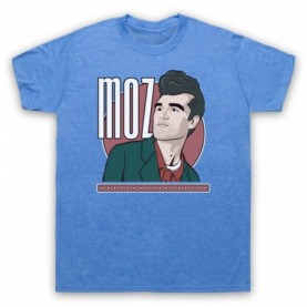 Smiths Morrissey Moz Mens Heather Blue T-Shirt