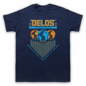Westworld Delos Mens Navy Blue T-Shirt