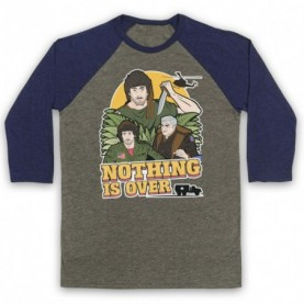 Rambo First Blood Nothing Is Over Adults Grey & Navy Blue Baseball Tee