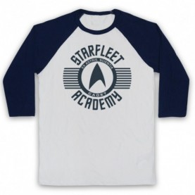 Star Trek Starfleet Acadamy Cadet Adults White & Navy Blue Baseball Tee