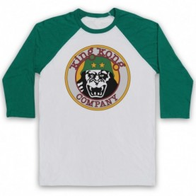 Taxi Driver King Kong Company Adults White & Green Baseball Tee