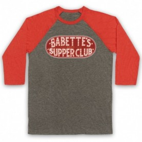Boardwalk Empire Babette's Supper Club Sign Adults Grey & Light Red Baseball Tee