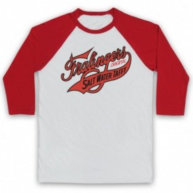Boardwalk Empire Fralinger's Salt Water Taffy Adults White & Red Baseball Tee