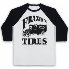 Boardwalk Empire Frazin's Tires Adults White & Black Baseball Tee