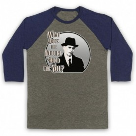 Boardwalk Empire Nucky Thompson Adults Grey & Navy Blue Baseball Tee