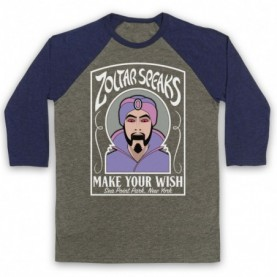 Big Zoltar Speaks Fortune Teller Machine Adults Grey & Navy Blue Baseball Tee