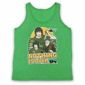 Rambo First Blood Nothing Is Over Adults Heather Green Tank Top
