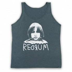 Shining Danny Redrum Adults Heather Slate Tank Top