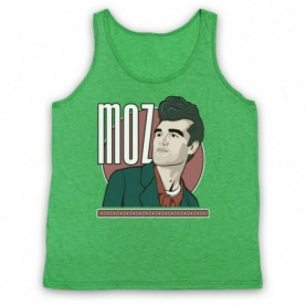 Smiths Morrissey Moz Adults Heather Green Tank Top