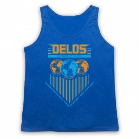 Westworld Delos Adults Royal Blue Tank Top