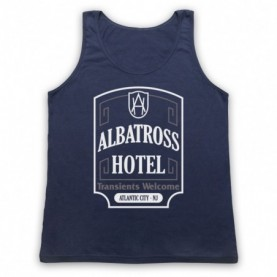 Boardwalk Empire Albatross Hotel Adults Navy Blue Tank Top