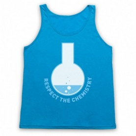 Breaking Bad Respect The Chemistry Adults Neon Blue Tank Top
