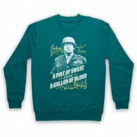 General Patton A Pint Of Sweat Saves A Gallon Of Blood Hoodie Sweatshirt Hoodies & Sweatshirts