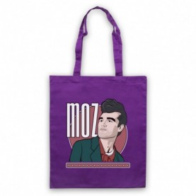 Smiths Morrissey Moz Purple Tote Bag