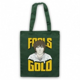 Stone Roses Fools Gold Dark Green Tote Bag