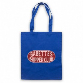 Boardwalk Empire Babette's Supper Club Sign Royal Blue Tote Bag