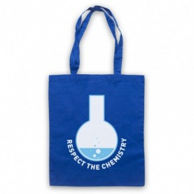 Breaking Bad Respect The Chemistry Royal Blue Tote Bag