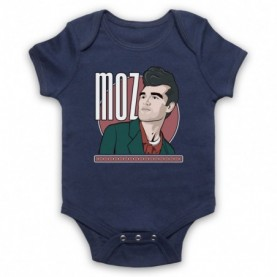 Smiths Morrissey Moz Navy Blue Baby Grow