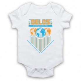 Westworld Delos White Baby Grow