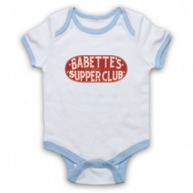 Boardwalk Empire Babette's Supper Club Sign White & Light Blue Baby Grow