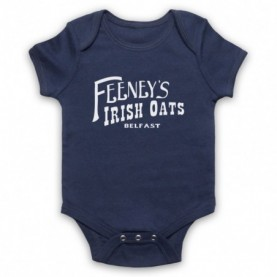 Boardwalk Empire Feeney's Irish Oats Navy Blue Baby Grow
