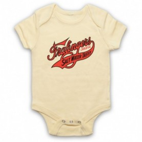 Boardwalk Empire Fralinger's Salt Water Taffy Light Yellow Baby Grow