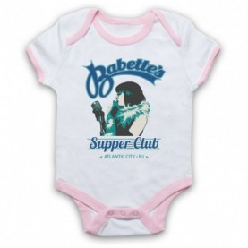 Boardwalk Empire Babette's Supper Club Woman Singer White & Light Pink Baby Grow