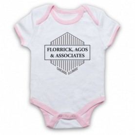 Good Wife Florrick Agos & Associates White & Light Pink Baby Grow
