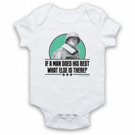 General Patton If A Man Does His Best What Else Is There? White Baby Grow