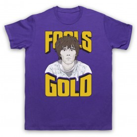 Stone Roses Fools Gold Mens Purple T-Shirt