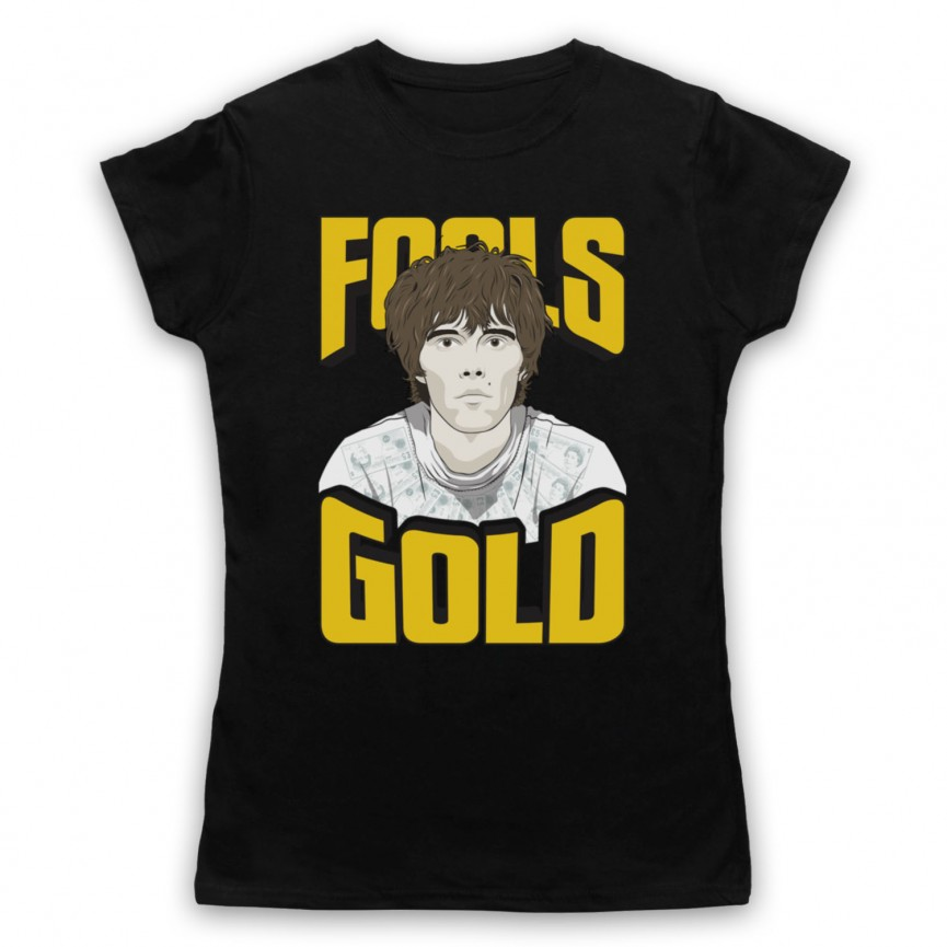 Stone Roses Fools Gold Womens Black T-Shirt