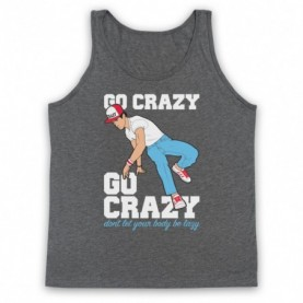 Crazy Legs Go Crazy Don't Let Your Body Be Lazy Breakdancing Icon Adults Heather Grey Tank Top