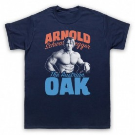 Arnold Schwarzenegger The Austrian Oak Bodybuilder Mens Navy Blue T-Shirt