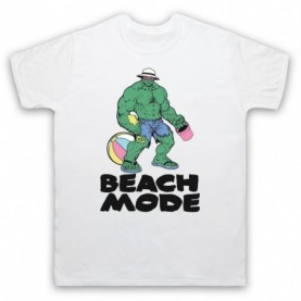 Beach Mode Bodybuilding Gym Workout Slogan Mens White T-Shirt
