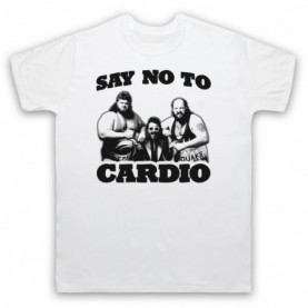 Say No To Cardio Earthquake Typhoon Wrestlers Mens White T-Shirt