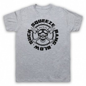 Suck Squeeze Bang Blow Ride Or Die Four Stroke Engine Mens Heather Grey T-Shirt