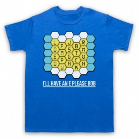 Blockbusters I'll Have An E Please Bob Mens Royal Blue T-Shirt