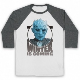 Game Of Thrones The Night's King Adults White & Grey Baseball Tee