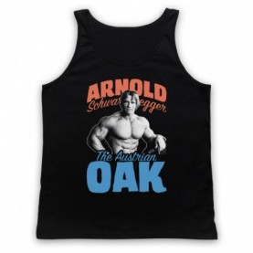 Arnold Schwarzenegger The Austrian Oak Bodybuilder Adults Black Tank Top