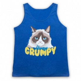 Grumpy Cat Always Grumpy Adults Royal Blue Tank Top