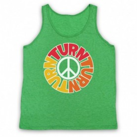 Byrds Turn Turn Turn Adults Heather Green Tank Top