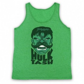 Hulk Tash Parody Incredible Hulk Smash Slogan Adults Heather Green Tank Top
