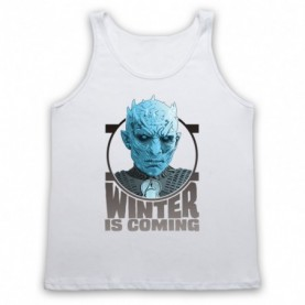 Game Of Thrones The Night's King Adults White Tank Top