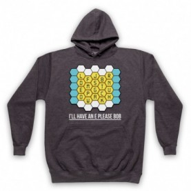 Blockbusters I'll Have An E Please Bob Adults Charcoal Pullover Hoodie